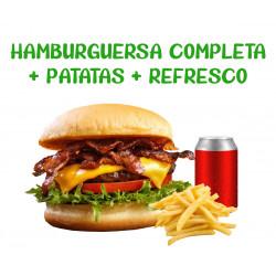Hamburguesa + Patatas +...